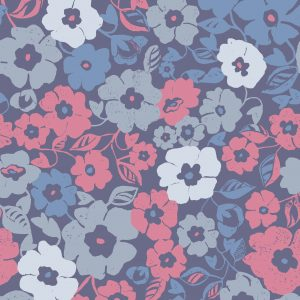 Ditsy Floral - Moody Blue