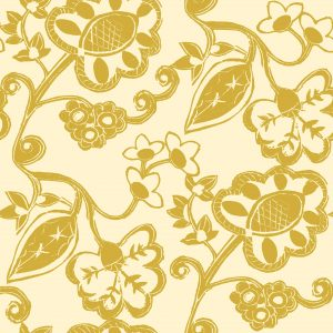 Stylised Floral - Dijon on Gentle Ochre