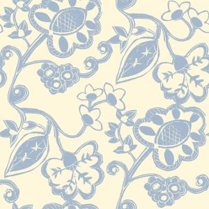 Stylised Floral - Seaspray on Oyster
